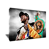 Champ Floyd Mayweather Jrペイントポスターアートワークonキャンバスアートプリント 16x24 inches