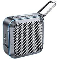 【2020最新版】LEHII BT525 Bluetoothスピーカー完全ワイヤレス ミニ 小型minコンパクポータブルスピーカー、IPX7防水規格、FMラジオ機能、強化された低音大音量、TWS対応 車載、12時間連続再生、風呂用、アウトドア、内蔵マイク、AUXケープルポート、USB充電、TFカード、カラビナ (青)