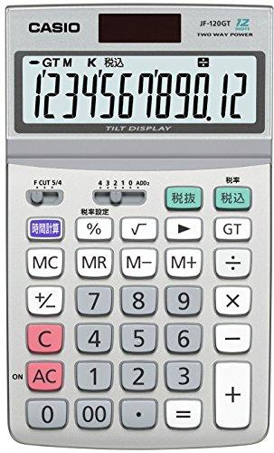 カシオ スタンダード電卓 時間・税計算 ジャストタイプ 12桁 JF-120GT-N