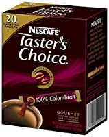 Nescaf?, Taster's Choice, Instant Coffee, 100% Colombian, 20 Packets, 0.07 oz (2 g) Each