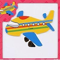 幼児期のゲーム 創造的な教育的な磁気パズルアーリーラーニングの数字の形の色の動物のおもちゃ子供のための素晴らしいギフト(飛行機)