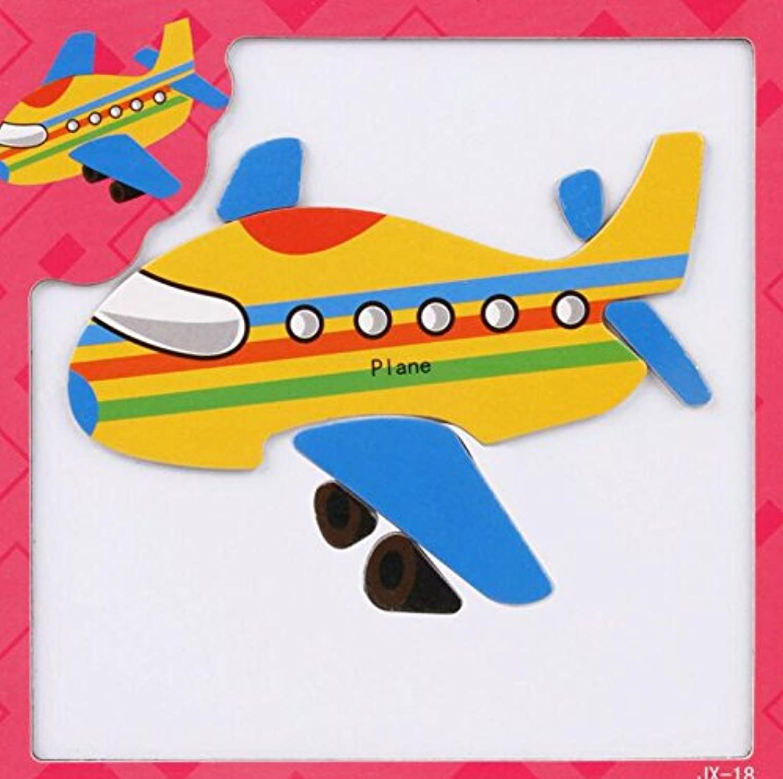 HuaQingPiJu-JP 創造的な教育的な磁気パズルアーリーラーニングの数字の形の色の動物のおもちゃ子供のための素晴らしいギフト(飛行機)