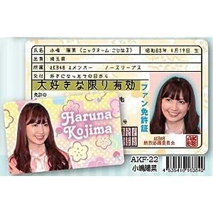 AKB48ファン免許証 第3弾 小嶋陽菜 Haruna Kojima