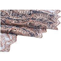 Aside Bside シアーカーテン ブーケ 花 ロッドポケットトップ 通気性 窓 装飾 ピュアスタイル 家庭 居間 キッチン (パネル1枚 幅52x長さ84インチ ホワイト) 52W x 95L Inch, 1 Panel ブルー