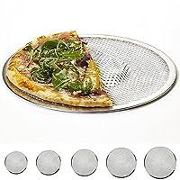 ピザ用アルミニウム調理グリル - シームレスアルミニウムピザスクリーン - アルミニウムメッシュピザスクリーンベーキングトレイネットワイヤー - 6/8/9/10/12/14インチを選択できます(12 Inch,銀色)