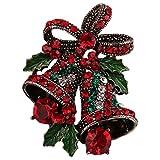 OUYOU ブローチ ブローチピン 胸元 クリスマス キラキラ ギフト クリスマス用 贈り物 パーティー 結婚式用