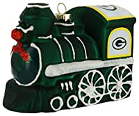 Green Bay Packers NFL手吹きガラスTrain Ornament