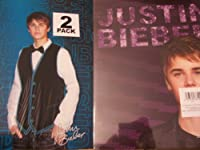 Justin Bieber 2Folderセットby Mead ( Justin onブルー; Justin onパープル)