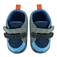 Domybest デニム 滑り止め プリンセス幼児靴 男の子 0-18ヶ月に適応靴 幼児用靴 結婚式 誕生日 プレゼント 防寒 春 秋 冬