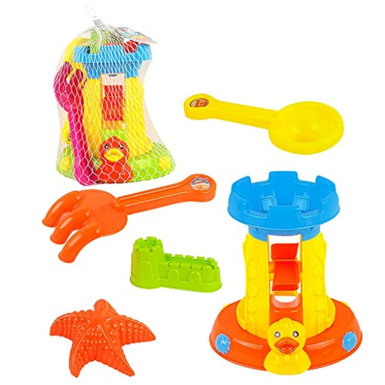 【ノーブランド 品】砂時計 砂 金型 ホリデー 5個 サンド 風車 おもちゃ セット 贈り物