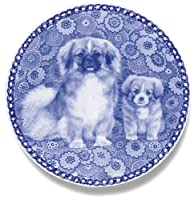 デンマーク製 ドッグ・プレート (犬の絵皿) 直輸入! Tibetan Spaniel / チベタン・スパニエル