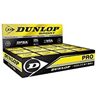 1x Dunlop Squash Balls Pro doubleyellow by Dunlop