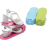 botrong 1 pcディスプレイラック靴オーガナイザー省スペースプラスチックストレージラックランダムカラー24 cm × 10 cm