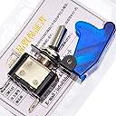 ぶーぶーマテリアル ミサイルスイッチ 青 ブルー ON /OFF LED トグル式 電装 3極タイプ