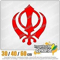 KIWISTAR - Khanda Sikhism 15色 - ネオン+クロム! ステッカービニールオートバイ