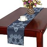 LKCDNG テーブルランナー 和風の模様 クロス 食卓カバー 麻綿製 欧米 おしゃれ 16 Inch X 72 Inch (40cm X 182cm) キッチン ダイニング ホーム デコレーション モダン リビング 洗える