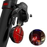 PORAXY LED 自転車用 テールライト USB充電式高輝度 LEDテールライト 防塵防水固定用ホルダー付きロードバイクマウンテンバイクセーフティーライト簡単取り付け 日本語マニュアル付き