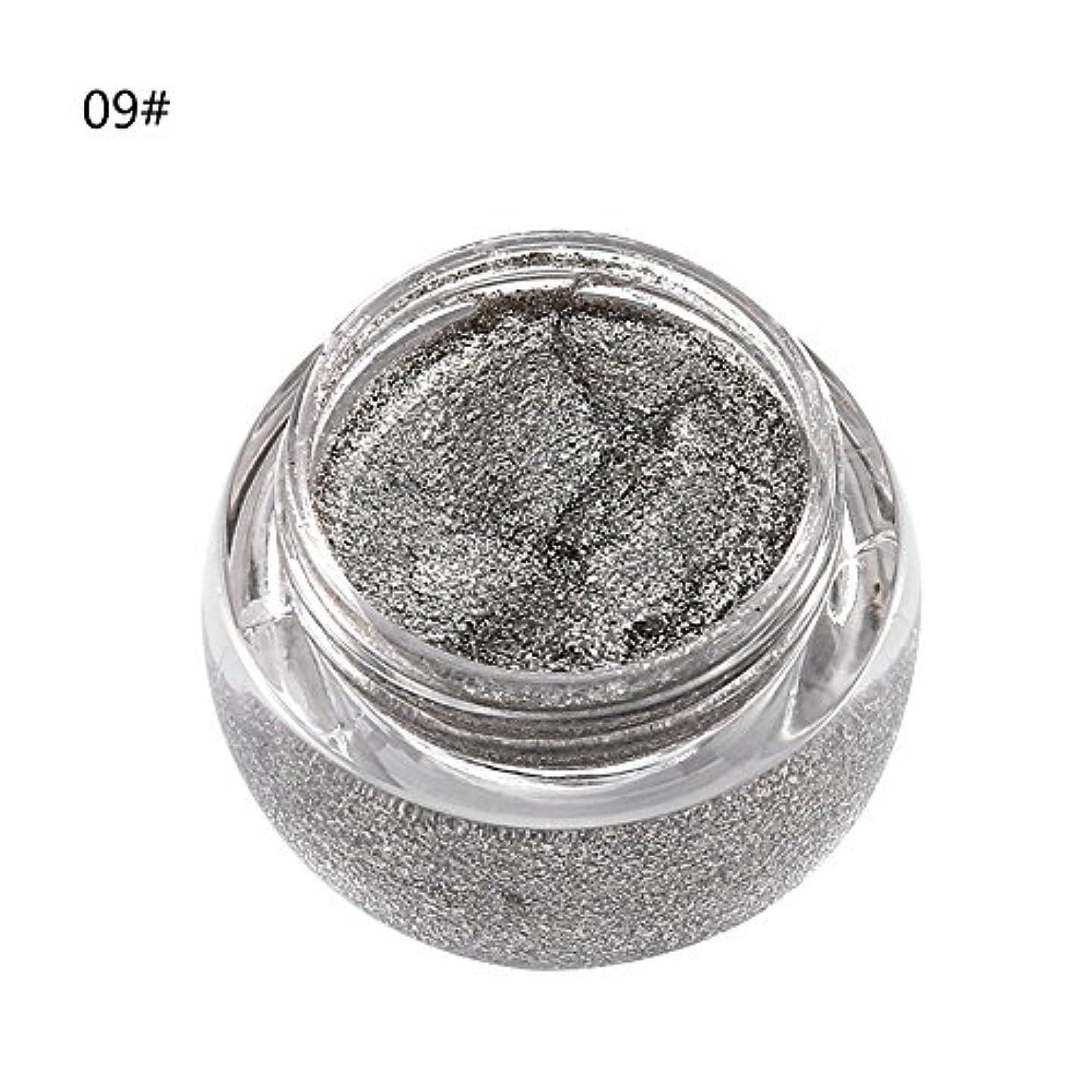 適合マイクロプロセッサ休眠アイシャドウ 単色 化粧品 光沢 保湿 キラキラ 美しい タイプ 09