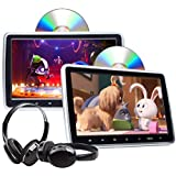 2020 Newest Headrest DVD Player 10.1 Inch DVD Player Universal Vehicle Headrest Monitor Portable DVD Player for Kids Dual Scr