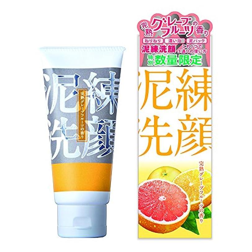 ダニ富より多い泥練洗顔 完熟グレープフルーツの香り 120g【泥 洗顔 6種の泥で 黒ずみ 毛穴 洗浄 3つの使い方】