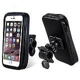 KOMOTU スマホマウント バイク 防水 スマホマウントホルダー 自転車用アクセサ 適用iPhone6/6s/iPhone7 360度自由回転 視野角を調節できます GSP/スマホとの互換性あり