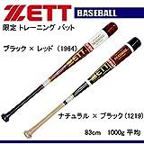 ZETT(ゼット) 木製トレーニングバット(実打可能) (btt1483) 1964 在庫