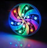 クルクル 回転 テール ランプ ダブル LED フラッシュ 目立つ 回る ライト バルブ 1個 12V