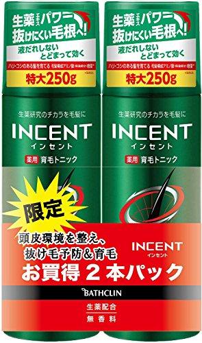 【医薬部外品】インセント 薬用育毛トニック無香料250g特大ペアパック育毛剤