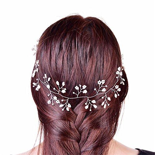 OSHIDE 髪飾り カチューシャ おパールの冠 ヘアピン ...