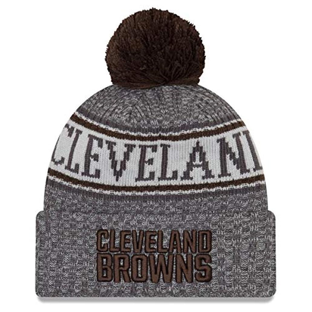 確執電話に出るなぜならニューエラ (New Era) NFL サイドライン 黒鉛 ビーニー帽 クリーブランド?ブラウンズ (Cleveland Browns)