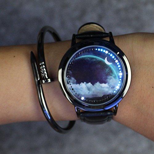 Liebeye LED 防水時計 腕時計 クリエイティブ タ...
