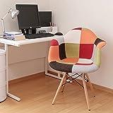 椅子 イームズチェア デザイナーズ リプロダクト パッチワークレッド DN1002D