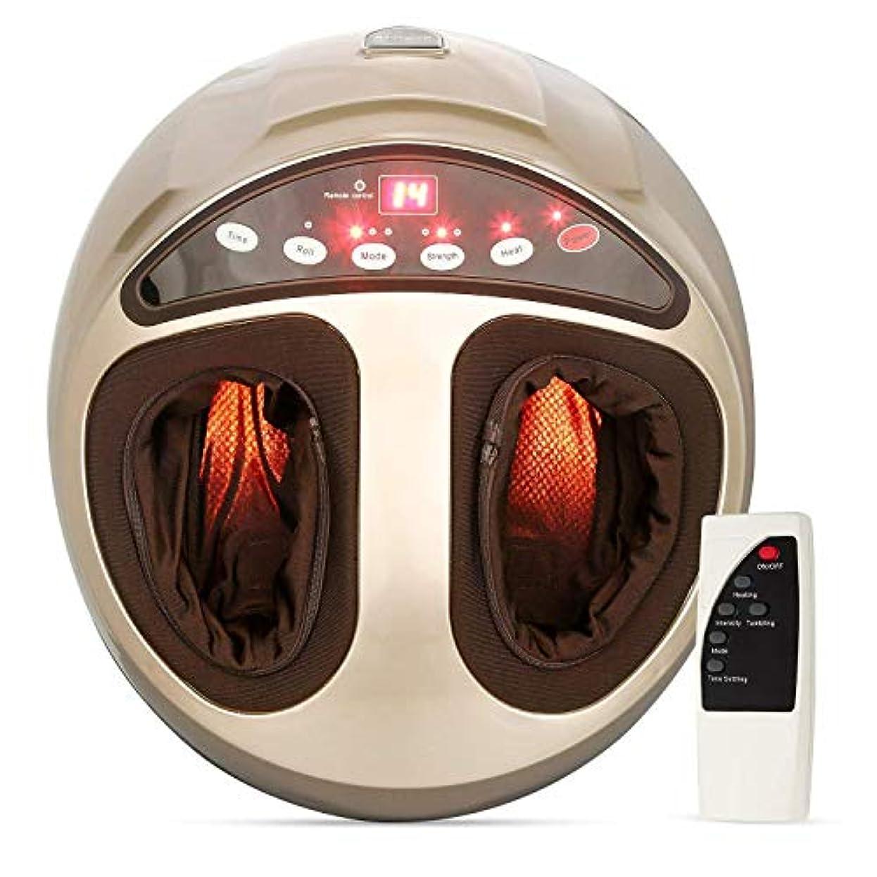 ティーム取るに足らない暗い指圧電動足マッサージ器足マッサージ機加熱深圧力空気圧縮調節可能な強度健康ギフト(EU)