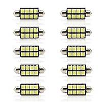 10個 42ミリメートル8SMD 8 5050 LED車のライセンスプレートライト、白Canbus 12V車のドームライトインテリアフェストーン電球