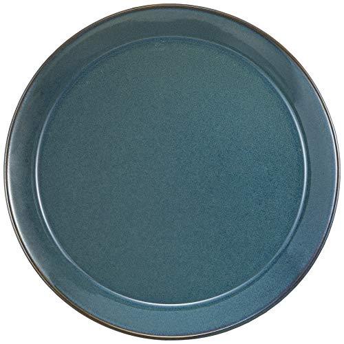 やまに 北欧ブルー 丸プレートL(25.8cm) 0316778