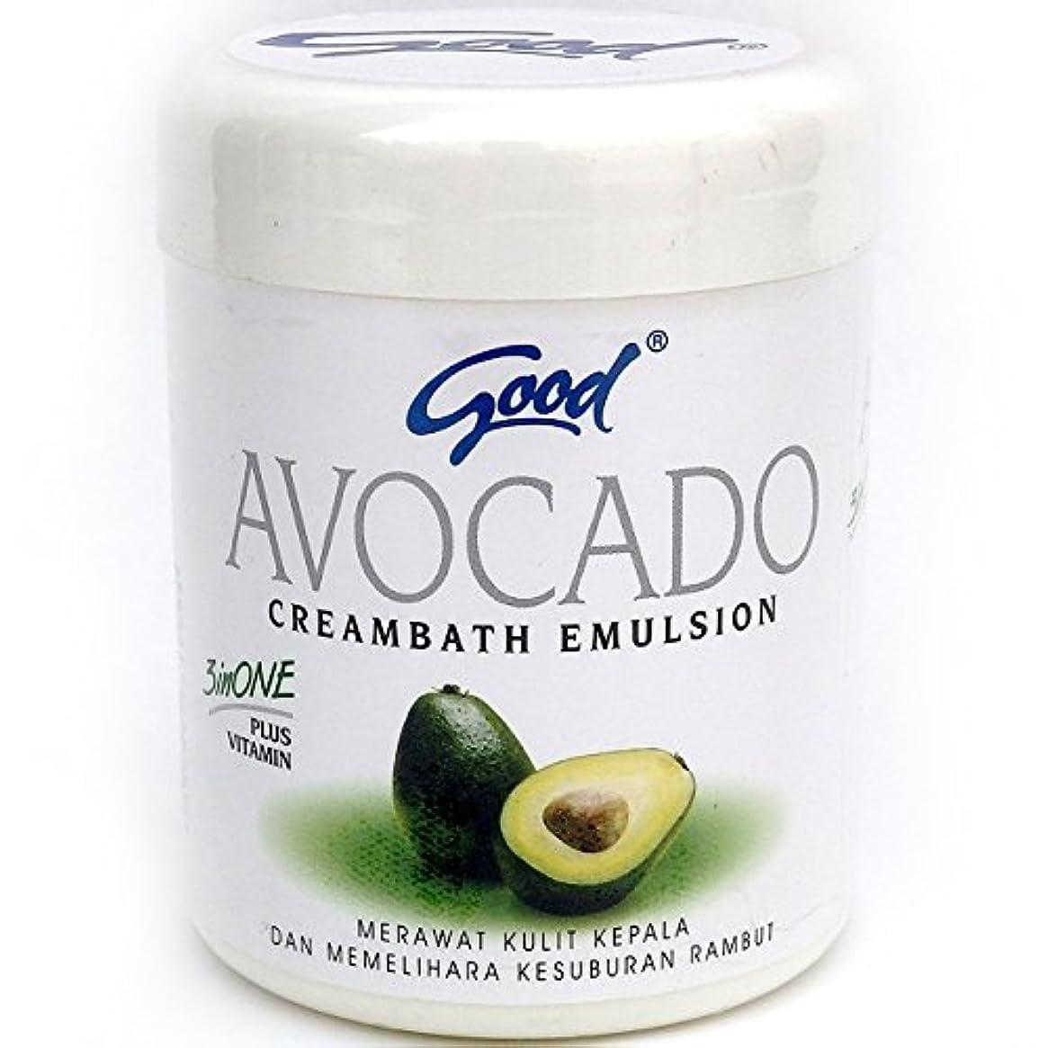 good グッド インドネシアバリ島の伝統的なヘッドスパクリーム Creambath Emulsion クリームバス エマルション 250g Avocado アボガド [海外直送品]
