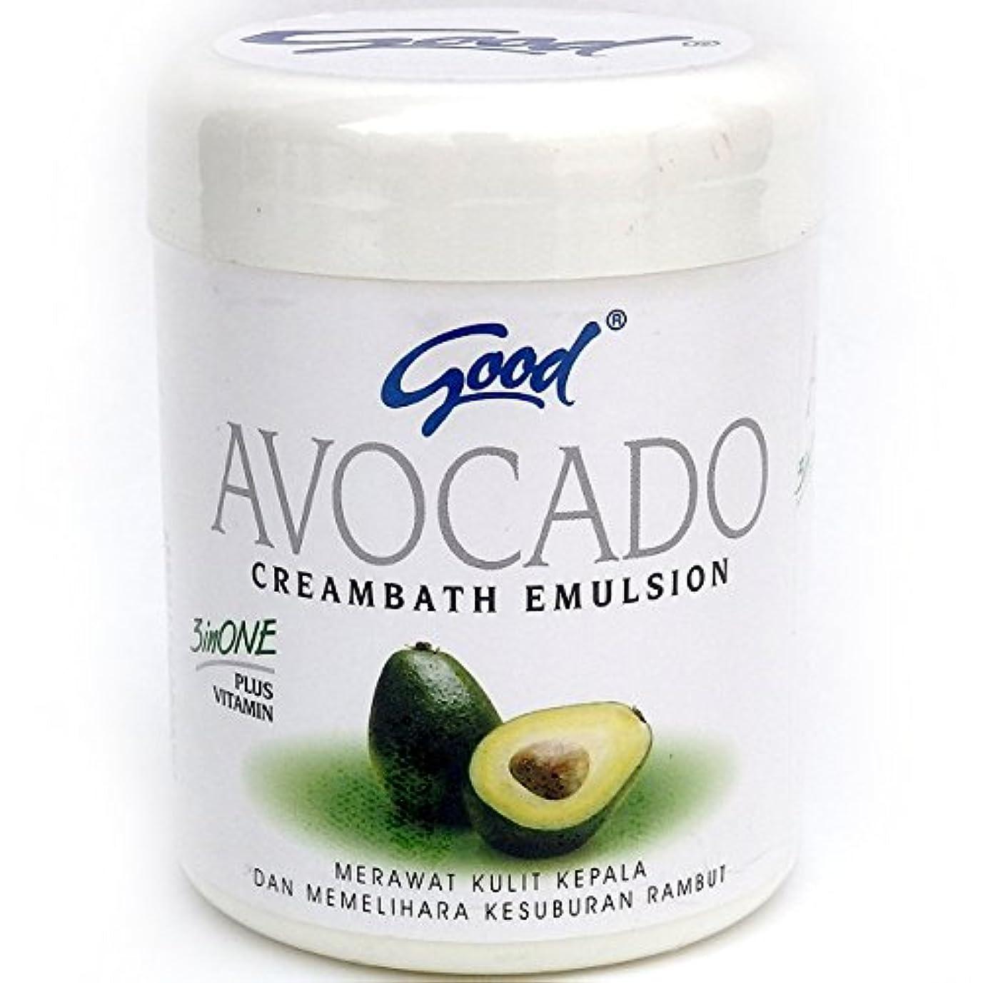 原因オゾン雇ったgood グッド インドネシアバリ島の伝統的なヘッドスパクリーム Creambath Emulsion クリームバス エマルション 250g Avocado アボガド [海外直送品]