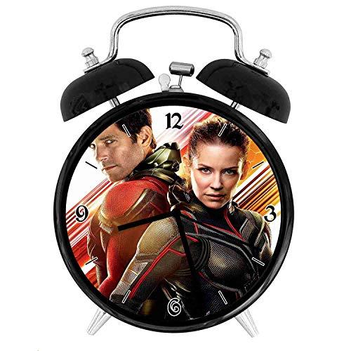 アントマンとスズメバチ - 装飾的な二重鐘の目覚まし時計、柔...