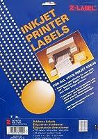 Z-Label Ink Jet Printer Labels: 25 Sheets [並行輸入品]
