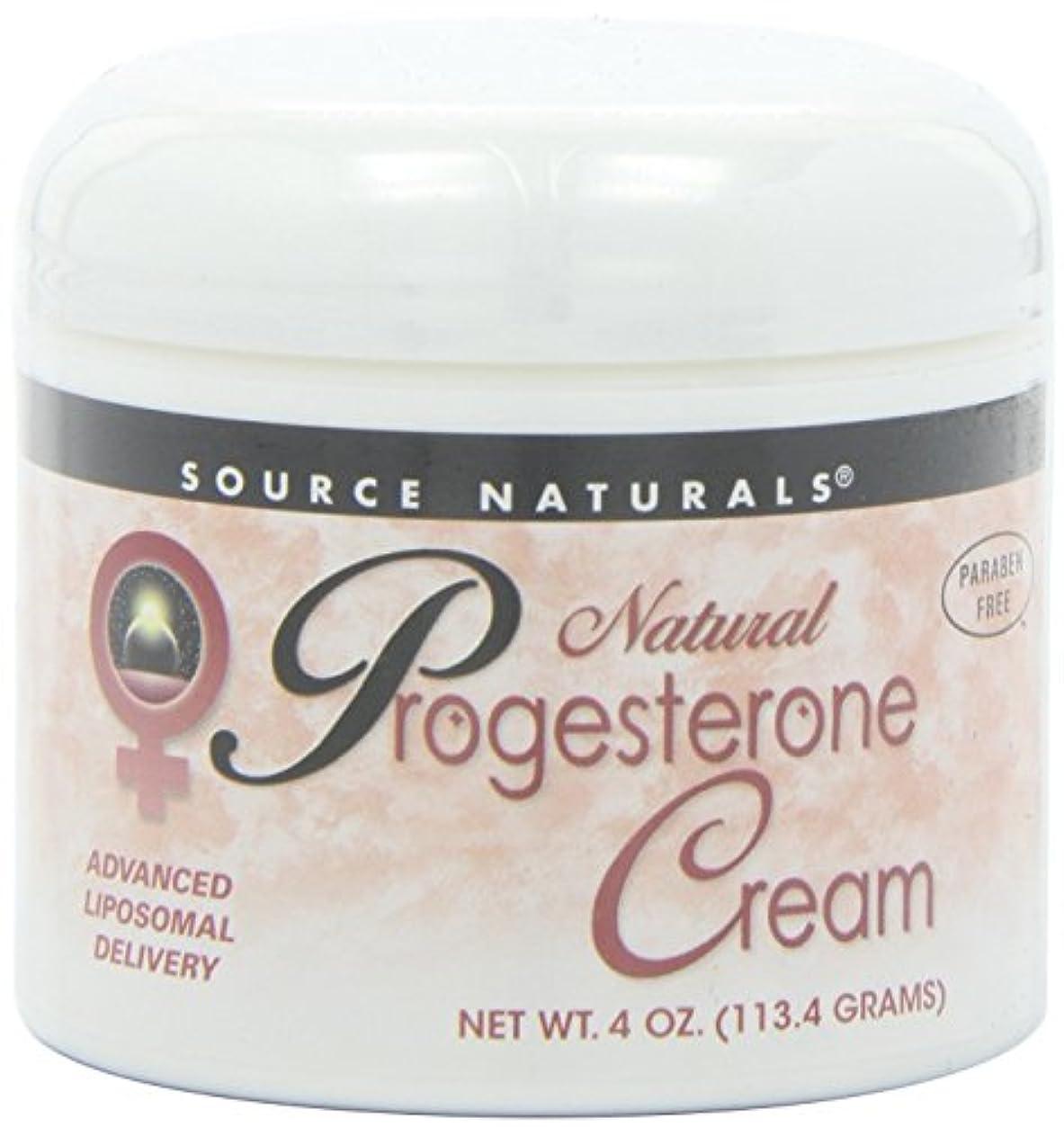 定刻悪性腫瘍名誉Source Naturals Natural Progesterone Cream, 4 Ounce (113.4 g) クリーム 並行輸入品 [並行輸入品]