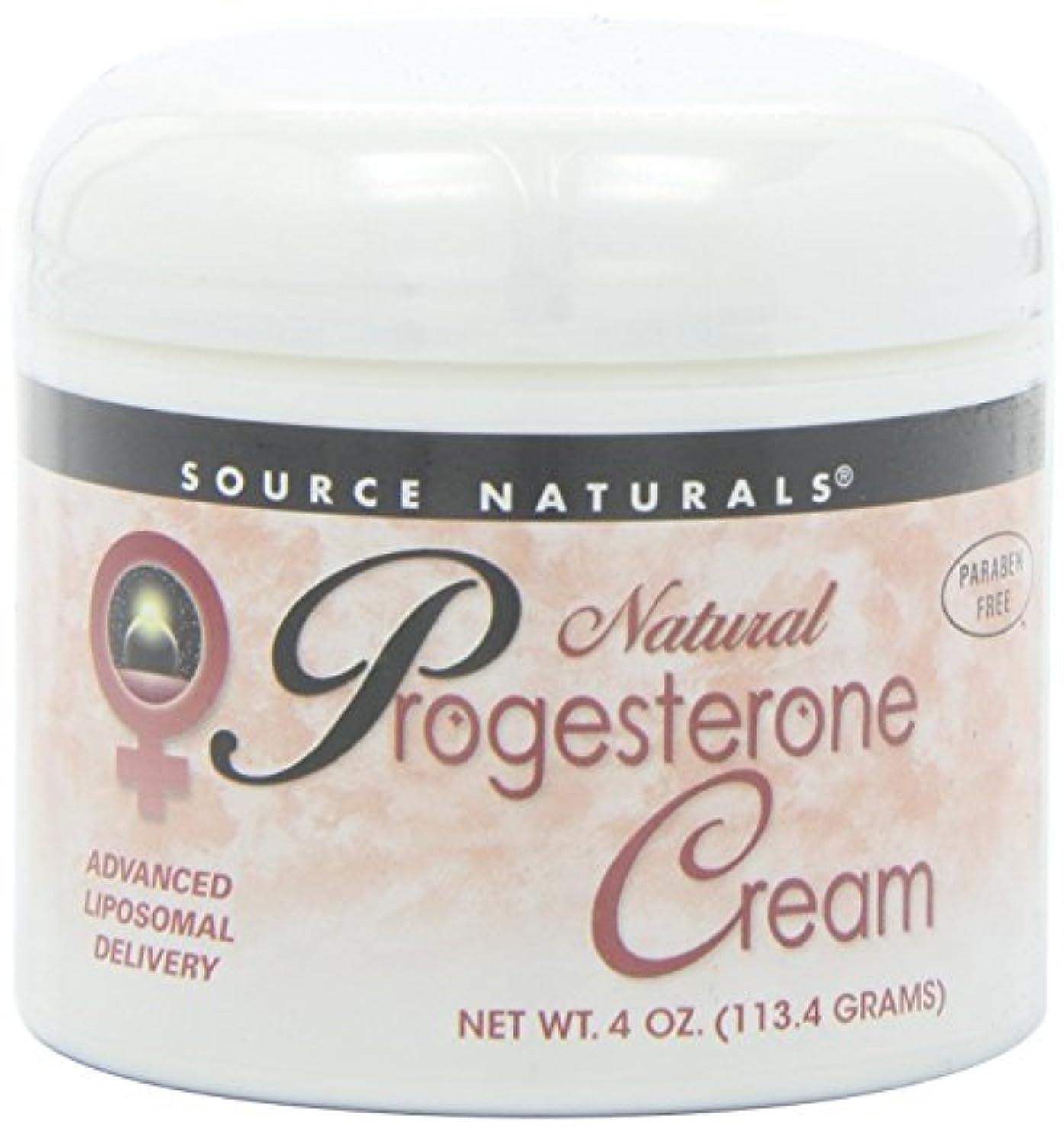 ほのか兵器庫消毒剤Source Naturals Natural Progesterone Cream, 4 Ounce (113.4 g) クリーム 並行輸入品 [並行輸入品]