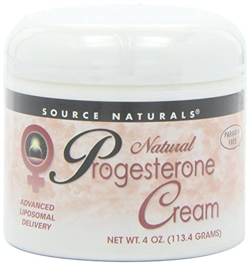 女優チューインガム名門Source Naturals Natural Progesterone Cream, 4 Ounce (113.4 g) クリーム 並行輸入品 [並行輸入品]