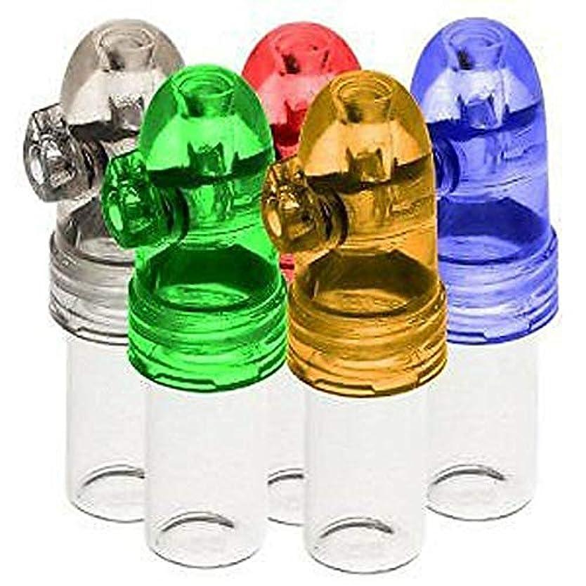 円周定期的な指Pichidr-JP スナッフブレット スナフボトル スノーターブレットロケットシェイプ 鼻の嗅ぎ ガラスボトル、クリア