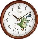 となりのトトロ 掛け時計 キャラクター アナログ トトロ M27 木 茶 半艶仕上 リズム時計 8MGA27RH06