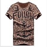 (アルファム)Alpham 半袖 Tシャツ イラスト プリント カットソー (20ブラウンL)