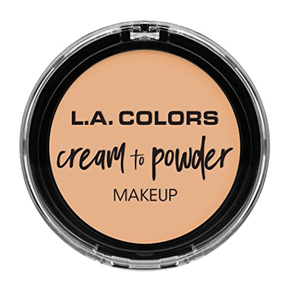 有彩色の引き付けるブロッサムL.A. COLORS Cream To Powder Foundation - Buff (並行輸入品)