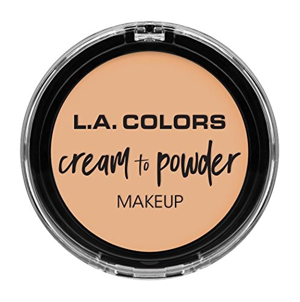 二落ち着かない野なL.A. COLORS Cream To Powder Foundation - Buff (並行輸入品)