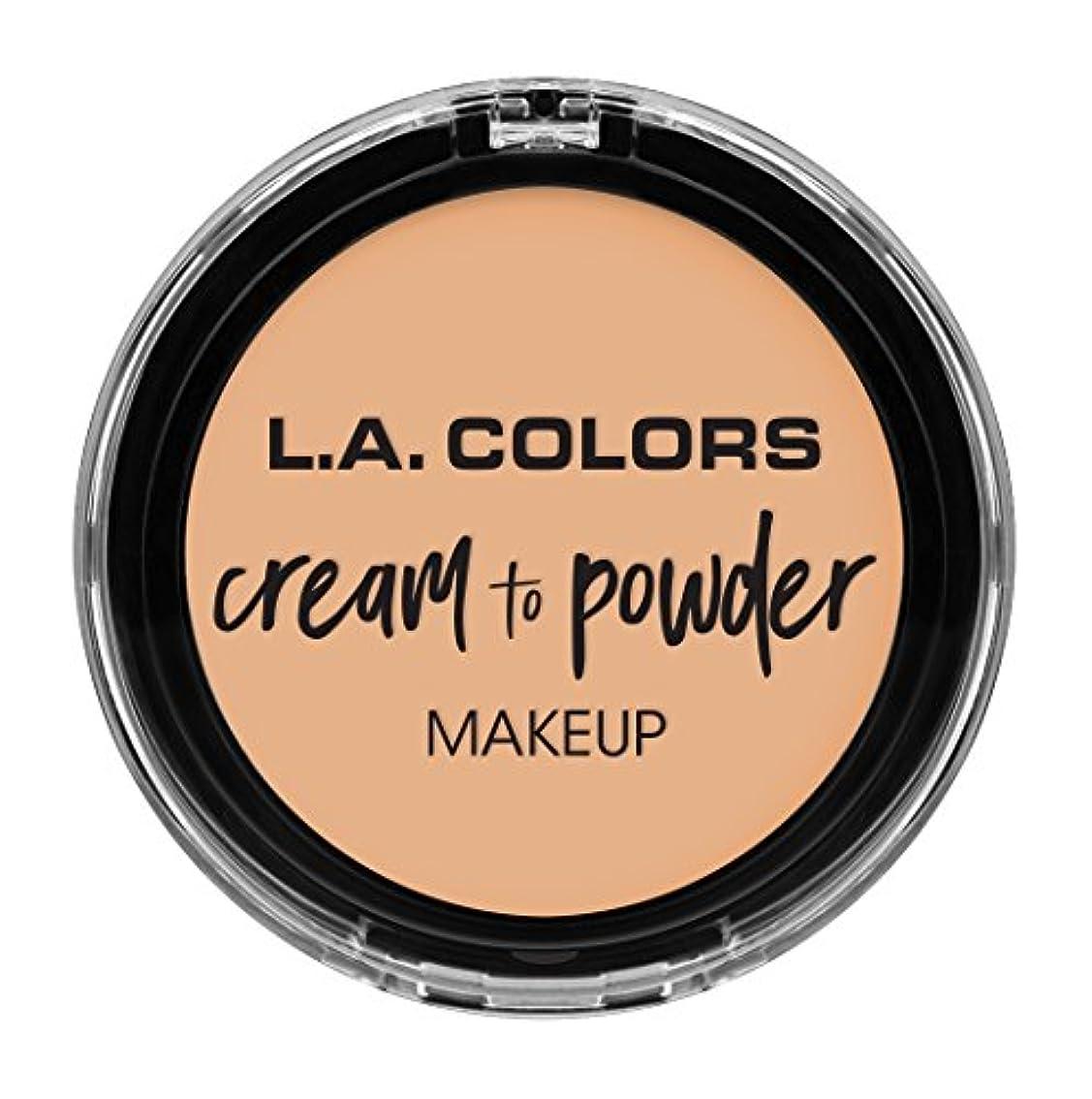 好奇心海洋液化するL.A. COLORS Cream To Powder Foundation - Buff (並行輸入品)