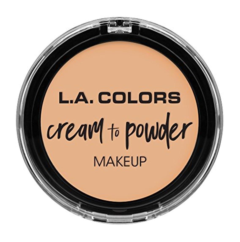 争うレジデンス非互換L.A. COLORS Cream To Powder Foundation - Buff (並行輸入品)