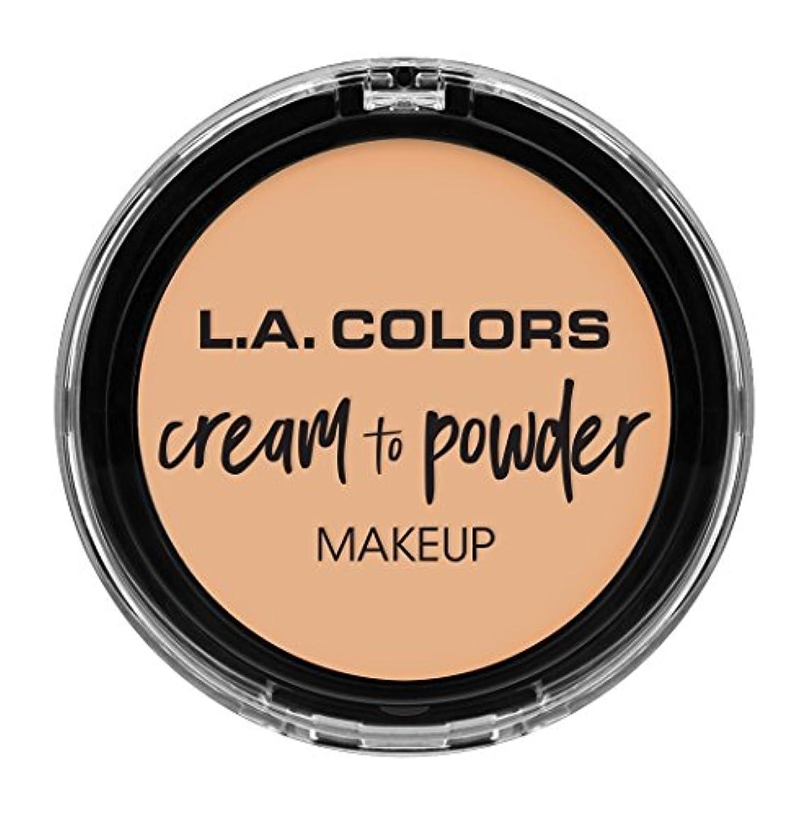 体政策くしゃくしゃL.A. COLORS Cream To Powder Foundation - Buff (並行輸入品)